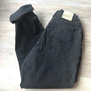 Vintage High Waisted Mom Jeans - Black